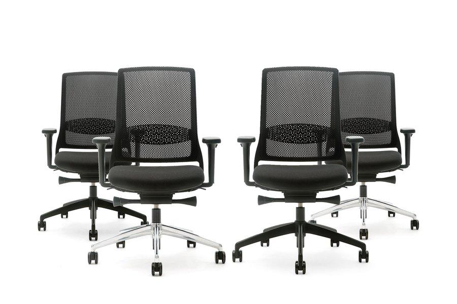Gispen Zinn Bureaustoel.Zinn Smart Bureaustoel Voetkruis Alu Gepolijst